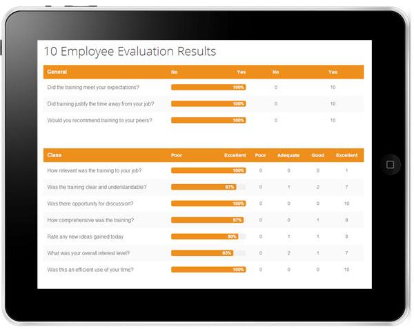 Versitas ROI Results as seen on iPad image2