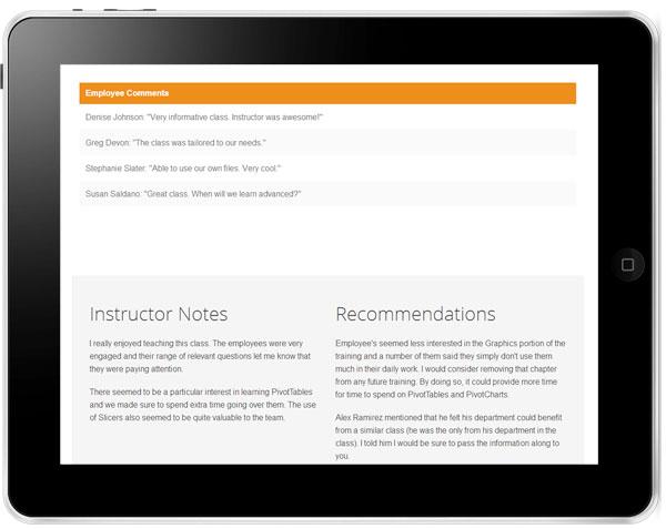 Versitas ROI Results as seen on iPad image3