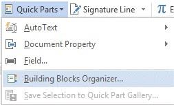Building Blocks Organizer selection