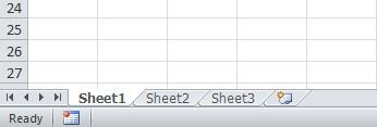 Worksheet tabs