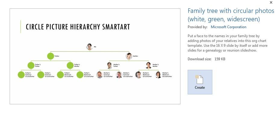 family tree templates microsoft