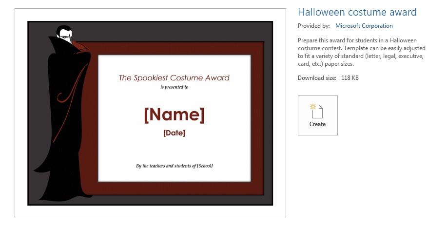 vampire costume award