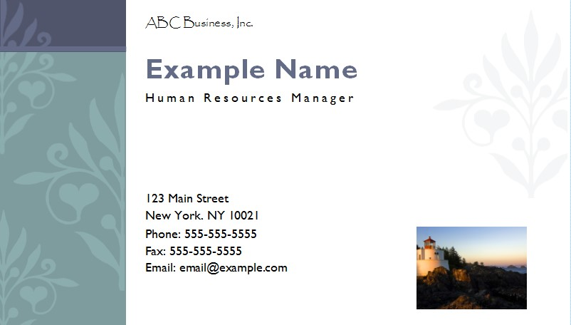Business Card Final  Name Card Example