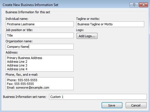 Business Information Set