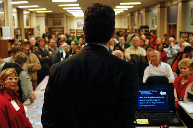 Picture of a man giving presentation