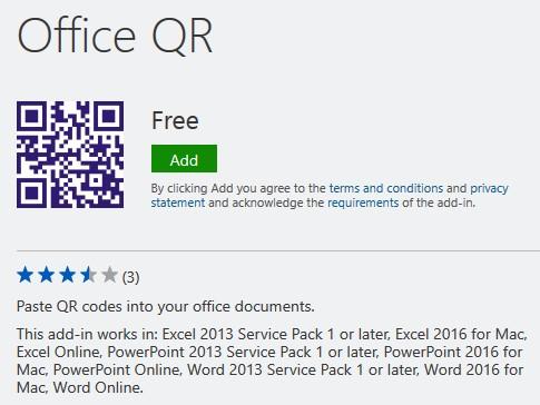 Office QR add-in
