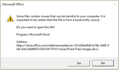Open the file add-in dialog box