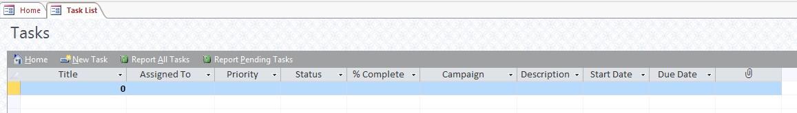 Tasks form screenshot