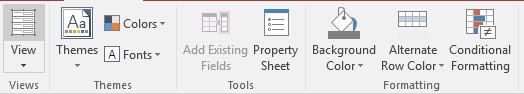 Form tools datasheet tab