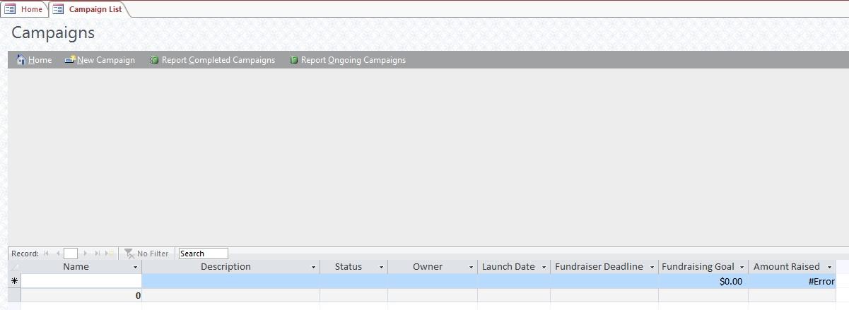 showing error default