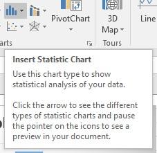 Insert Statistic Chart button