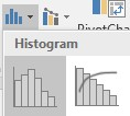 histogram button
