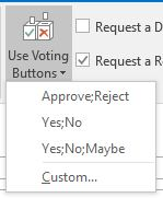 Outlook Voting buttons