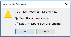 Voting Edit Response dialog box