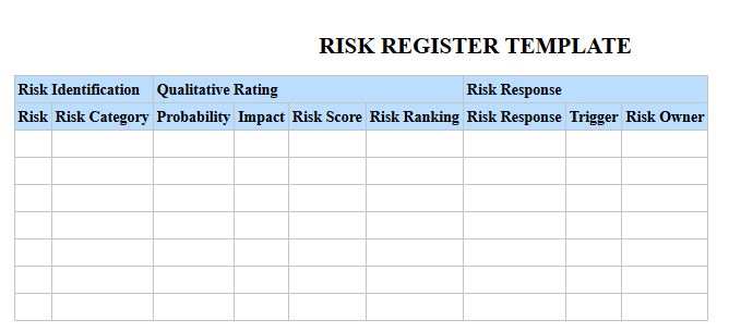 Create A Risk Register Using Excel Onsite Software