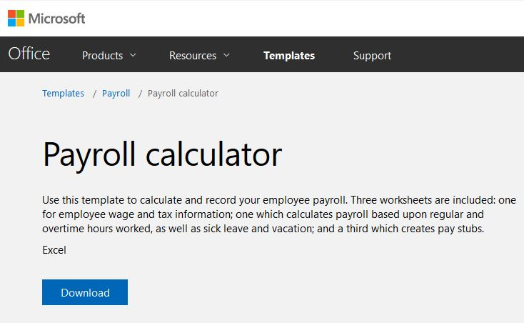 preparing payroll in excel
