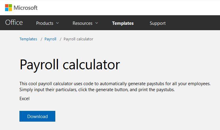Payroll Calculator 2 screenshot in Excel