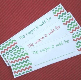 Christmas gift template screenshot of coupon book