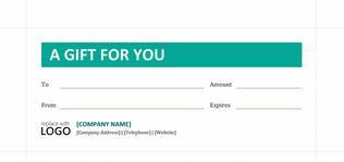 Business style gift certificate screenshot