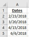 list of dates in Excel with 10 days added to them