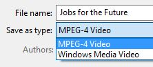 PowerPoint video - MPEG-4 or WMV options
